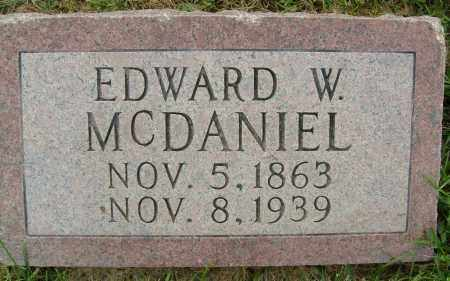 MCDANIEL, EDWARD W. - Boulder County, Colorado | EDWARD W. MCDANIEL - Colorado Gravestone Photos