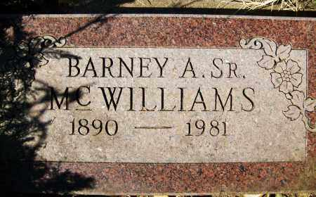 MCWILLIAMS, BARNEY A., SR. - Boulder County, Colorado | BARNEY A., SR. MCWILLIAMS - Colorado Gravestone Photos