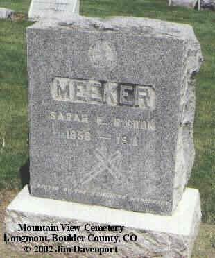 MEEKER, SARAH E. - Boulder County, Colorado | SARAH E. MEEKER - Colorado Gravestone Photos