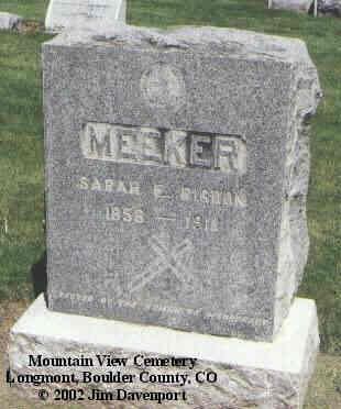 RIGDON MEEKER, SARAH E. - Boulder County, Colorado | SARAH E. RIGDON MEEKER - Colorado Gravestone Photos