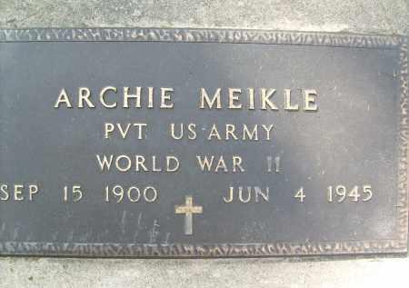 MEIKLE, ARCHIE - Boulder County, Colorado   ARCHIE MEIKLE - Colorado Gravestone Photos