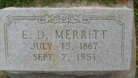 MERRITT, E.D. - Boulder County, Colorado | E.D. MERRITT - Colorado Gravestone Photos