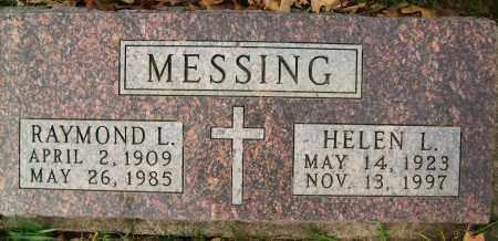 MESSING, RAYMOND L. - Boulder County, Colorado | RAYMOND L. MESSING - Colorado Gravestone Photos