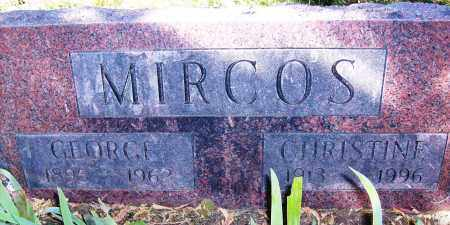 MIRCOS, CHRISTINE - Boulder County, Colorado   CHRISTINE MIRCOS - Colorado Gravestone Photos