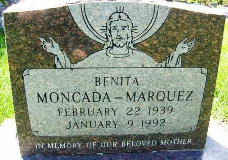 MONCADA-MARQUEZ, BENITA - Boulder County, Colorado   BENITA MONCADA-MARQUEZ - Colorado Gravestone Photos