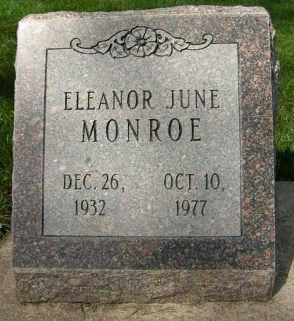 MONROE, ELEANOR JUNE - Boulder County, Colorado   ELEANOR JUNE MONROE - Colorado Gravestone Photos