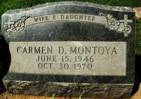 MONTOYA, CARMEN D. - Boulder County, Colorado | CARMEN D. MONTOYA - Colorado Gravestone Photos