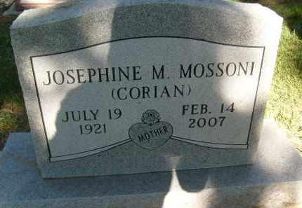 CORIAN MOSSONI, JOSEPHINE M. - Boulder County, Colorado | JOSEPHINE M. CORIAN MOSSONI - Colorado Gravestone Photos