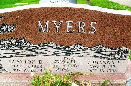 MYERS, JOHANNA E. - Boulder County, Colorado | JOHANNA E. MYERS - Colorado Gravestone Photos