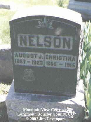 NELSON, CHRISTINA - Boulder County, Colorado | CHRISTINA NELSON - Colorado Gravestone Photos