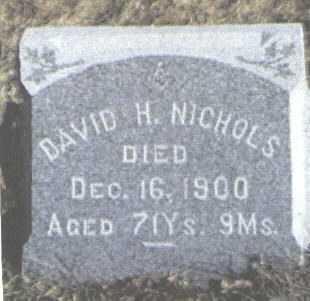 NICHOLS, DAVID H. - Boulder County, Colorado | DAVID H. NICHOLS - Colorado Gravestone Photos
