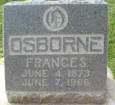 OSBORNE, (MARY) FRANCES - Boulder County, Colorado | (MARY) FRANCES OSBORNE - Colorado Gravestone Photos
