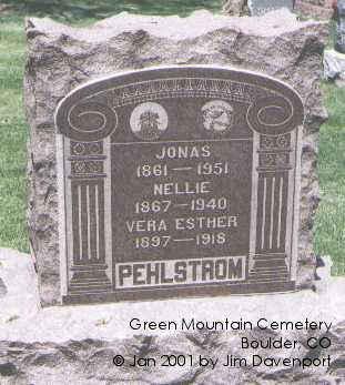 PEHLSTROM, NELLIE - Boulder County, Colorado | NELLIE PEHLSTROM - Colorado Gravestone Photos