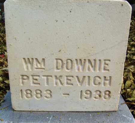 PETKEVICH, WILLIAM DOWNIE - Boulder County, Colorado | WILLIAM DOWNIE PETKEVICH - Colorado Gravestone Photos