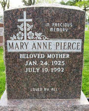 PIERCE, MARY ANNE - Boulder County, Colorado   MARY ANNE PIERCE - Colorado Gravestone Photos