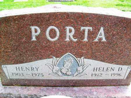 PORTA, HENRY - Boulder County, Colorado | HENRY PORTA - Colorado Gravestone Photos