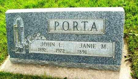 PORTA, JOHN L. - Boulder County, Colorado | JOHN L. PORTA - Colorado Gravestone Photos