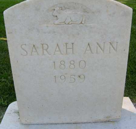 POTTS, SARAH ANN - Boulder County, Colorado | SARAH ANN POTTS - Colorado Gravestone Photos