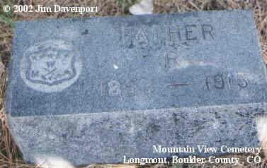 RAND, R. - Boulder County, Colorado   R. RAND - Colorado Gravestone Photos