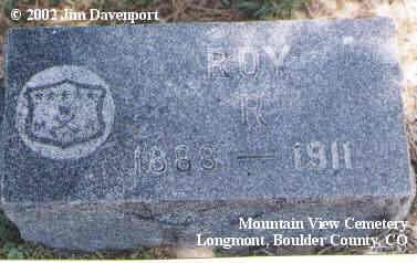 RAND, ROY R. - Boulder County, Colorado   ROY R. RAND - Colorado Gravestone Photos