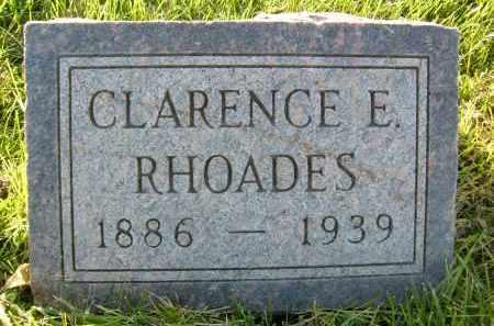 RHOADES, CLARENCE E. - Boulder County, Colorado | CLARENCE E. RHOADES - Colorado Gravestone Photos
