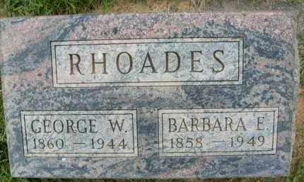 RHOADES, BARBARA E. - Boulder County, Colorado   BARBARA E. RHOADES - Colorado Gravestone Photos