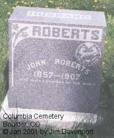 ROBERTS, JOHN - Boulder County, Colorado | JOHN ROBERTS - Colorado Gravestone Photos
