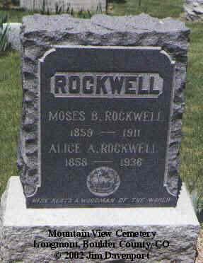 ROCKWELL, MOSES B. - Boulder County, Colorado   MOSES B. ROCKWELL - Colorado Gravestone Photos