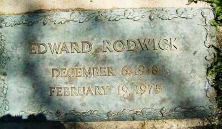 RODWICK, EDWARD - Boulder County, Colorado | EDWARD RODWICK - Colorado Gravestone Photos