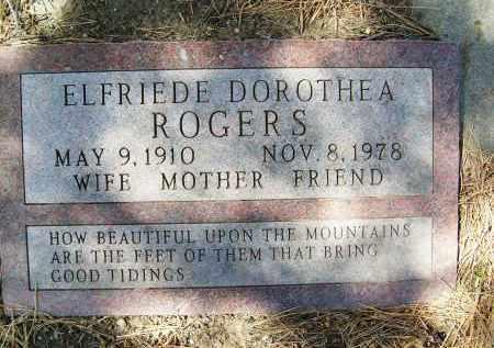 ROGERS, ELFRIEDE DOROTHEA - Boulder County, Colorado | ELFRIEDE DOROTHEA ROGERS - Colorado Gravestone Photos