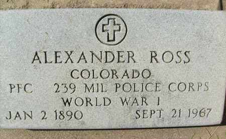 ROSS, ALEXANDER - Boulder County, Colorado | ALEXANDER ROSS - Colorado Gravestone Photos