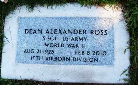 ROSS, DEAN ALEXANDER - Boulder County, Colorado | DEAN ALEXANDER ROSS - Colorado Gravestone Photos