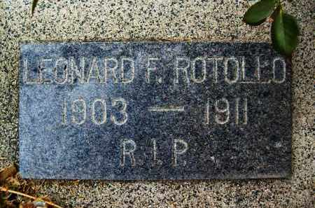 ROTOLLO, LEONARD F. - Boulder County, Colorado | LEONARD F. ROTOLLO - Colorado Gravestone Photos