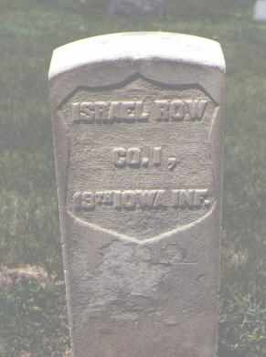 ROW, ISRAEL - Boulder County, Colorado | ISRAEL ROW - Colorado Gravestone Photos