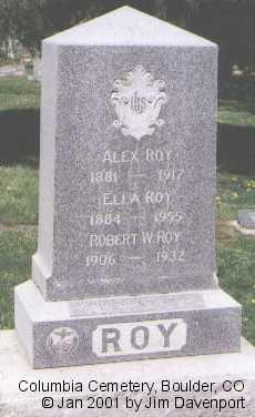 ROY, ROBERT W. - Boulder County, Colorado | ROBERT W. ROY - Colorado Gravestone Photos