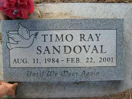 SANDOVAL, TIMO RAY - Boulder County, Colorado   TIMO RAY SANDOVAL - Colorado Gravestone Photos