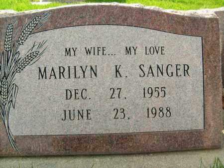 SANGER, MARILYN K. - Boulder County, Colorado | MARILYN K. SANGER - Colorado Gravestone Photos