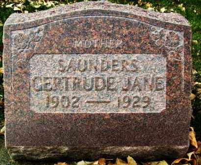 SAUNDERS, GERTRUDE JANE - Boulder County, Colorado | GERTRUDE JANE SAUNDERS - Colorado Gravestone Photos