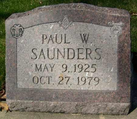 SAUNDERS, PAUL W. - Boulder County, Colorado | PAUL W. SAUNDERS - Colorado Gravestone Photos