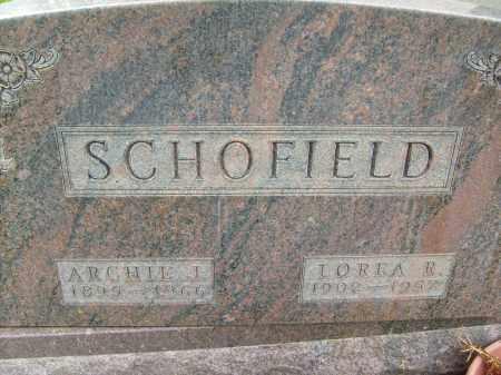 SCHOFIELD, LOREA R. - Boulder County, Colorado | LOREA R. SCHOFIELD - Colorado Gravestone Photos