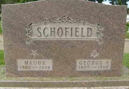 SCHOFIELD, MAUDE - Boulder County, Colorado | MAUDE SCHOFIELD - Colorado Gravestone Photos