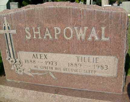 SHAPOWAL, TILLIE - Boulder County, Colorado | TILLIE SHAPOWAL - Colorado Gravestone Photos