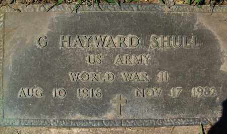 SHULL, G. HAYWARD - Boulder County, Colorado   G. HAYWARD SHULL - Colorado Gravestone Photos