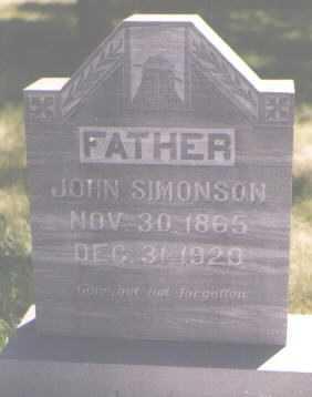 SIMONSON, JOHN - Boulder County, Colorado | JOHN SIMONSON - Colorado Gravestone Photos