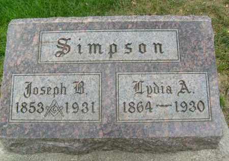 SIMPSON, JOSEPH B. - Boulder County, Colorado | JOSEPH B. SIMPSON - Colorado Gravestone Photos