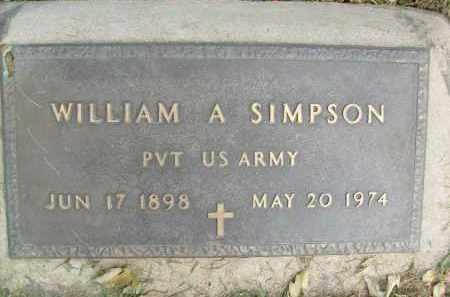 SIMPSON, WILLIAM A. - Boulder County, Colorado   WILLIAM A. SIMPSON - Colorado Gravestone Photos