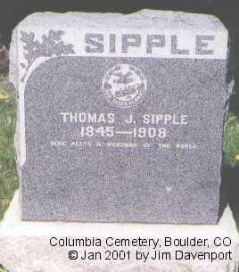 SIPPLE, THOMAS J. - Boulder County, Colorado | THOMAS J. SIPPLE - Colorado Gravestone Photos