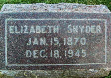 SNYDER, ELIZABETH - Boulder County, Colorado | ELIZABETH SNYDER - Colorado Gravestone Photos