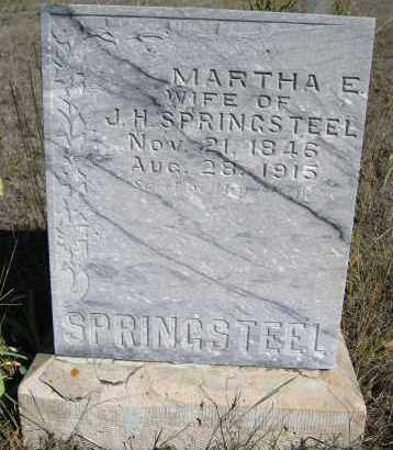 SPRINGSTEEL, MARTHA E - Boulder County, Colorado | MARTHA E SPRINGSTEEL - Colorado Gravestone Photos