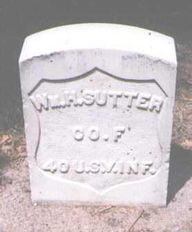 SUTTER, WILLIAM H. - Boulder County, Colorado   WILLIAM H. SUTTER - Colorado Gravestone Photos